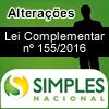 SIMPLES NACIONAL - Alterações pela Lei Complementar nº 155/2016